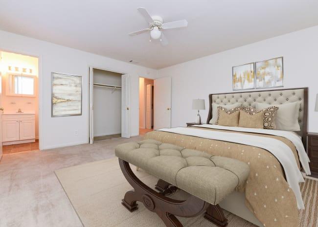 Bedroom at Apartments in Dover, Delaware