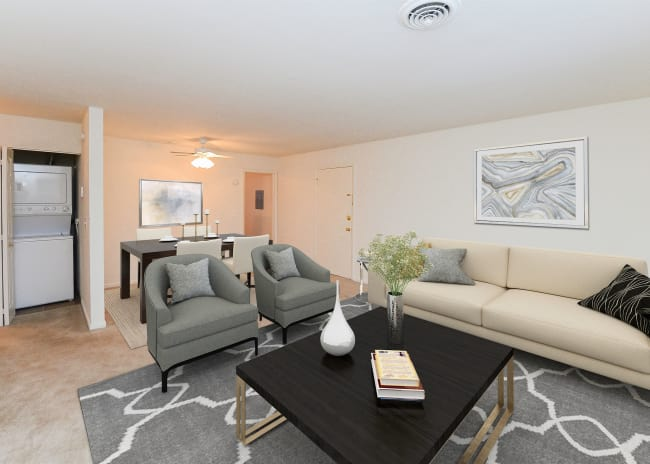 Living Room at Apartments in Dover, Delaware
