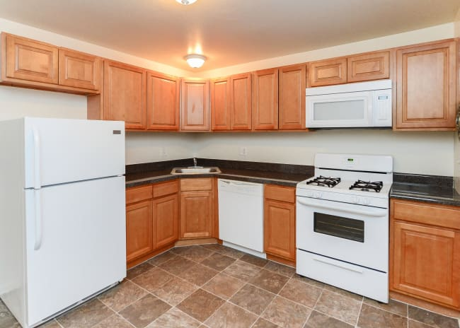 Kitchen at Woodcrest Apartment Homes in Dover, DE