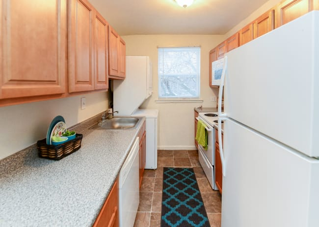 Kitchen at Woodcrest Apartment Homes in Dover, Delaware