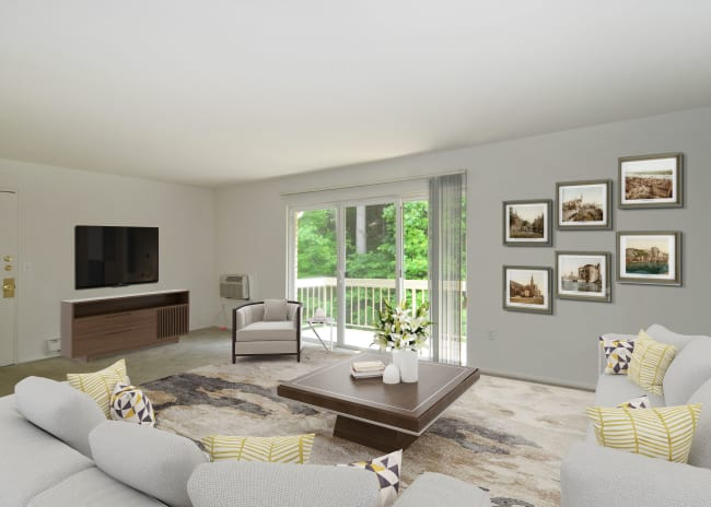 Living Room at Apartments in Allentown, Pennsylvania