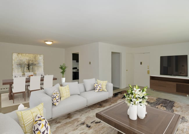 Whitestone Village Apartment Homes offers a Living Room in Allentown, Pennsylvania