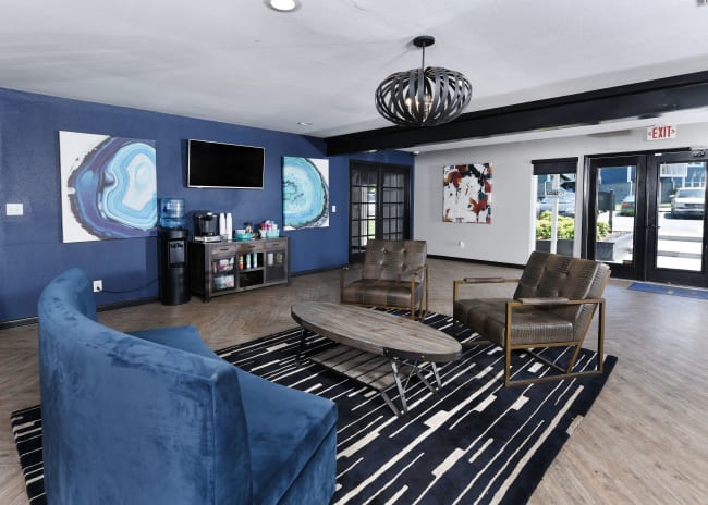 Clubhouse interior at Mallards Landing Apartment Homes in Nashville, Tennessee