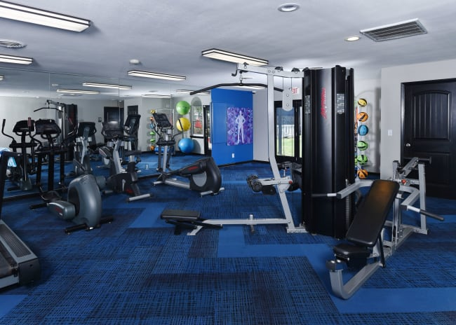 Fitness center at Mallards Landing Apartment Homes in Nashville, Tennessee