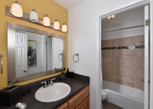 Bathroom at Mallards Landing Apartment Homes in Nashville, Tennessee