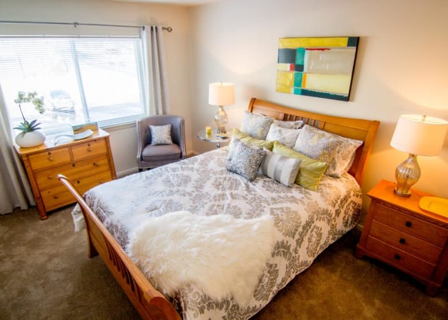 Large resident bedrooms at Marchwood Apartment Homes in Exton, Pennsylvania.