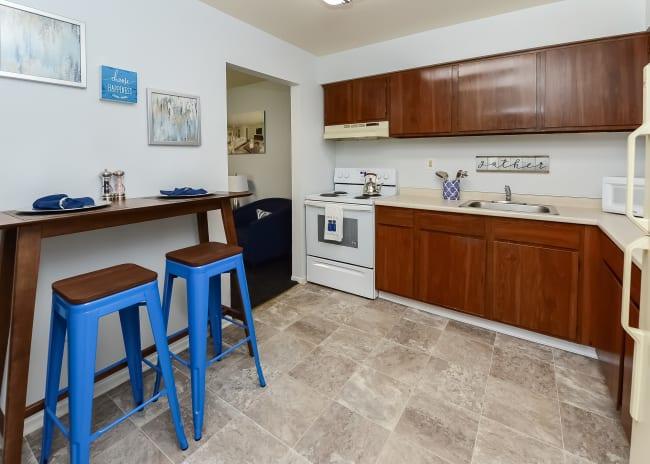 Kitchen at Apartments in Allentown, Pennsylvania