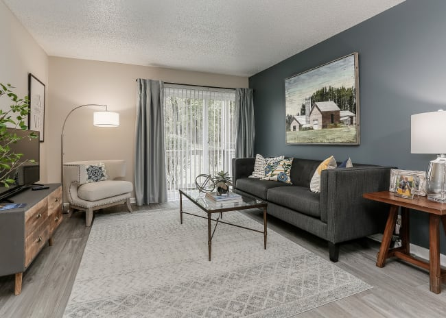 Beautiful Living Room at The Residences at Stonebrook in Nashville, Tennessee