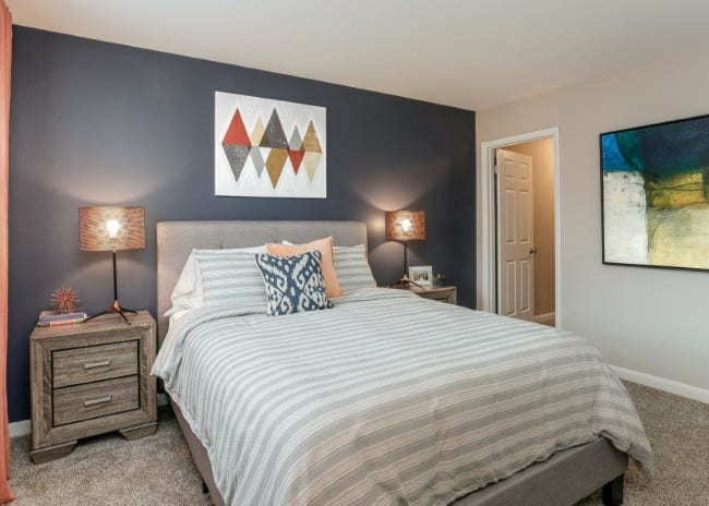 Beautiful Bedroom at Mallards Landing Apartment Homes in Nashville, Tennessee