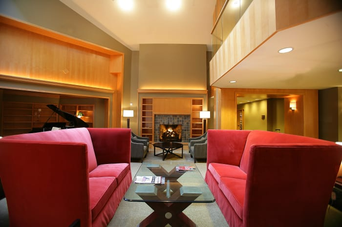 Main lounge area at All Seasons of Rochester Hills in Rochester Hills, Michigan