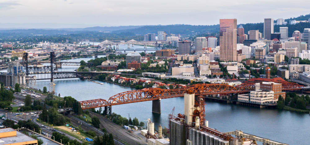 View of Portland from Marquam Heights in Portland, Oregon