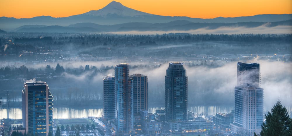 View of Portland, Oregon from Marquam Heights