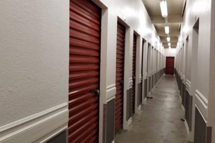 Interior storage units at One Stop Storage