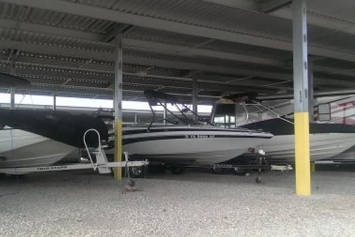 Boat storage at Advantage Storage -  Stonebrook in Frisco, Texas