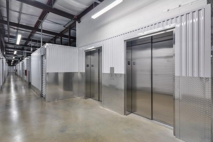 Elevator at Space Shop Self Storage in Smyrna, Georgia