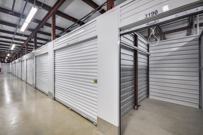 Interior units at Space Shop Self Storage in Smyrna, Georgia, interior storage units