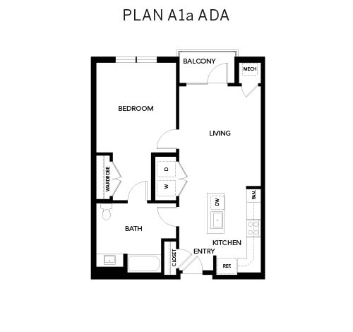 Avenida Watermarq at Germantown floor plan A1a ADA in Germantown, Tennessee