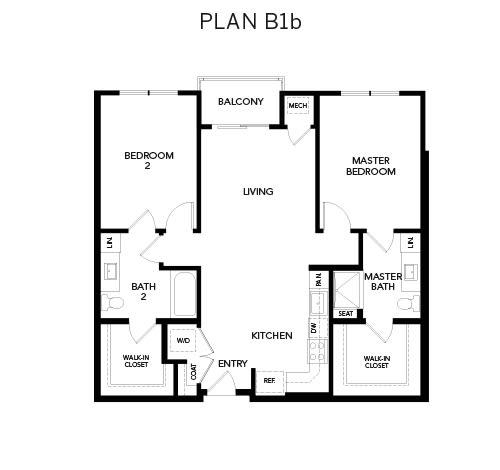 Avenida Watermarq at Germantown floor plan B1b in Germantown, Tennessee