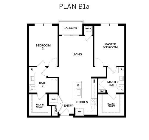 Avenida Watermarq at Germantown floor plan B1a in Germantown, Tennessee