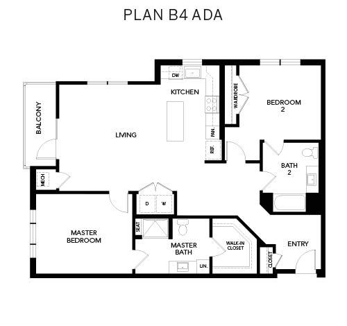 Avenida Watermarq at Germantown floor plan B4 ADA in Germantown, Tennessee