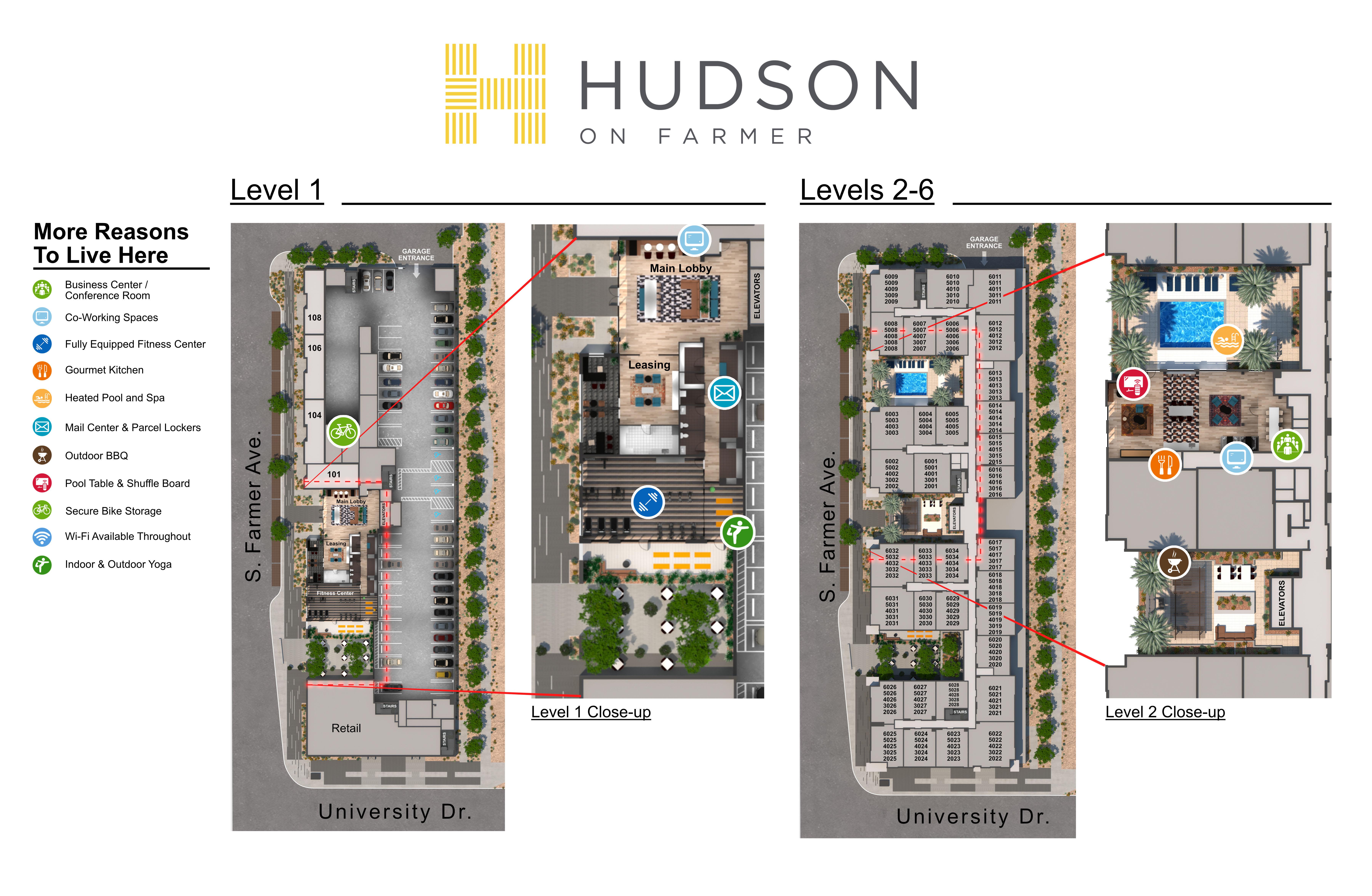 Hudson on Farmer site plan
