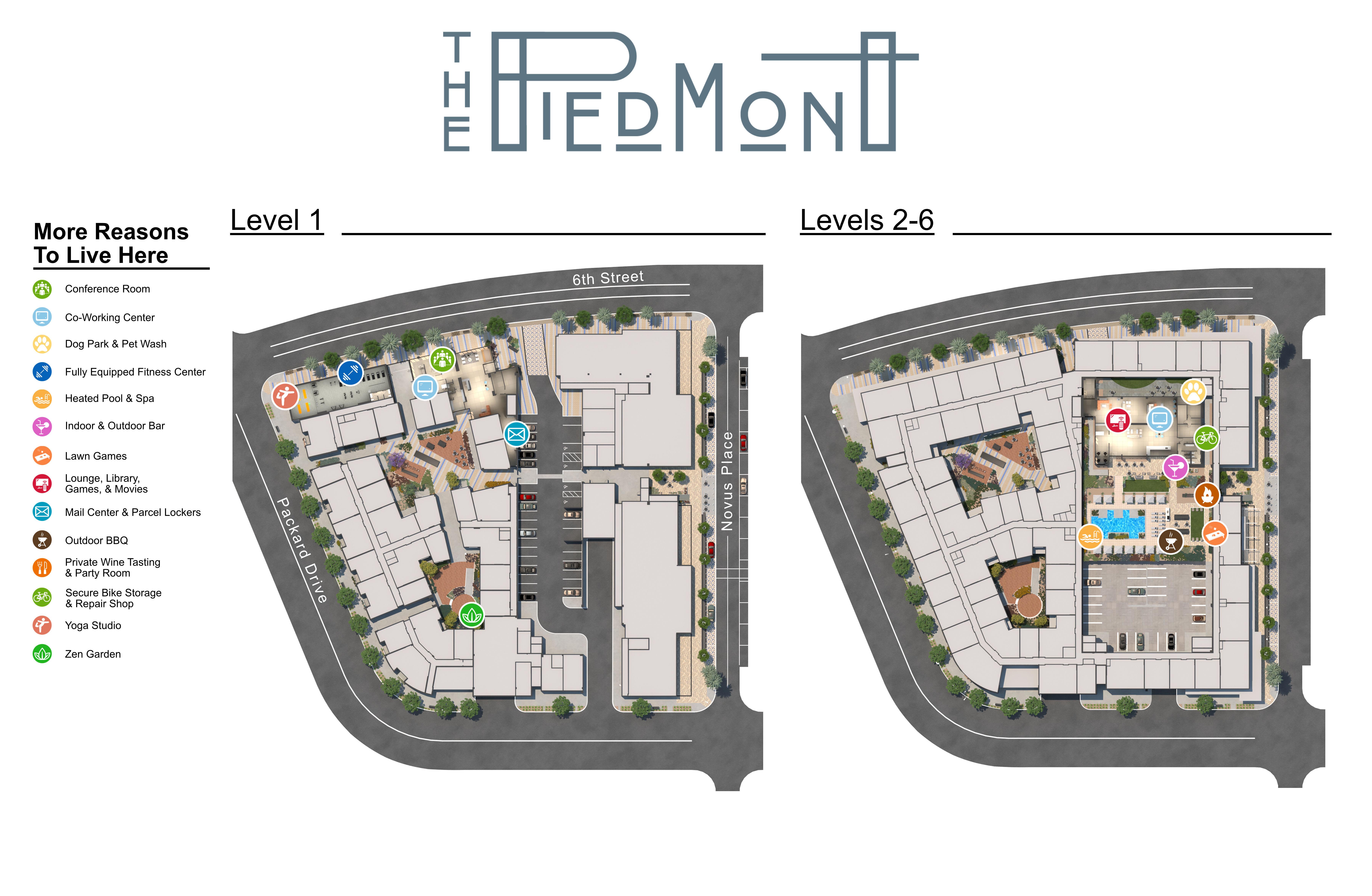 The Piedmont site plan