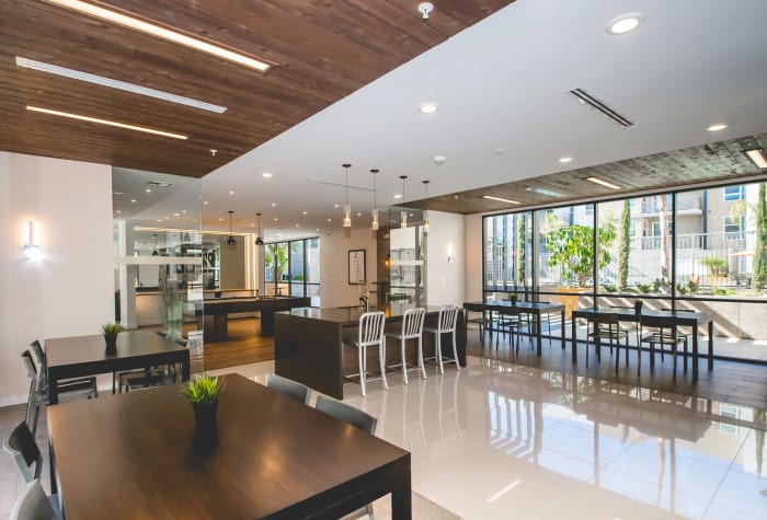 Beautiful resident clubhouse interior at IMT Sherman Circle in Van Nuys, California