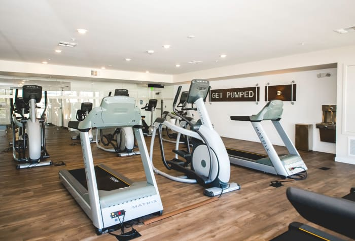 Well-equipped fitness center at IMT Sherman Circle in Van Nuys, CA
