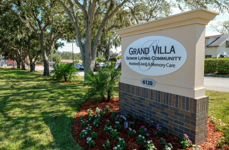Welcome Sign at Grand Villa of New Port Richey in New Port Richey, Florida