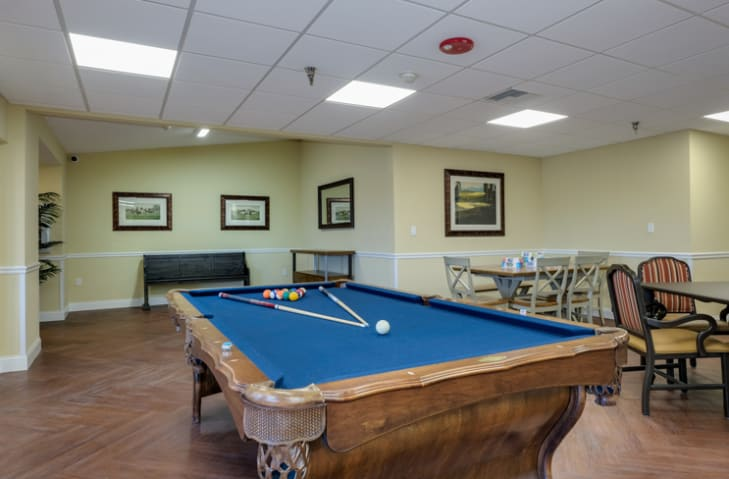 Pool table at Grand Villa of New Port Richey in New Port Richey, Florida
