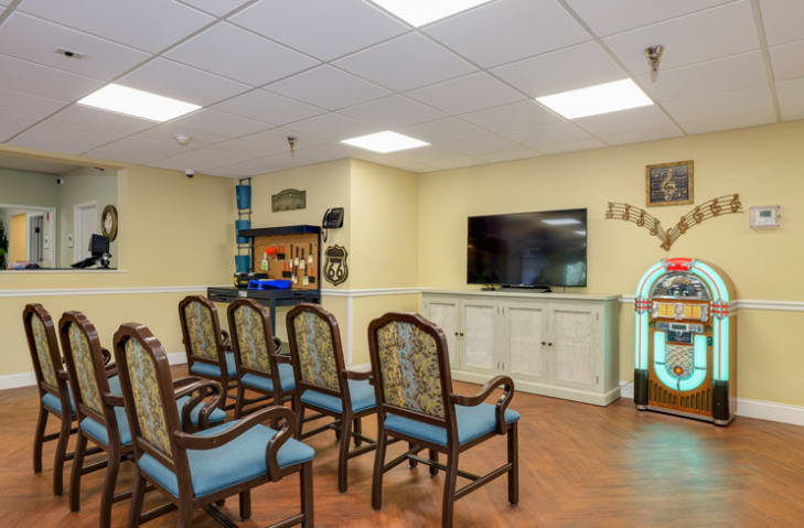 Community Room at Grand Villa of New Port Richey in New Port Richey, Florida
