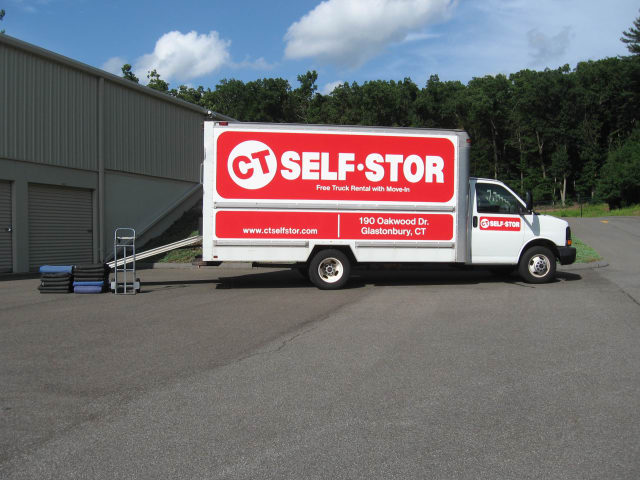 Free move-in truck available at CT SELF STOR