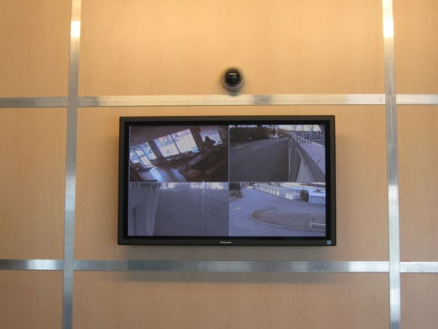 Office security camera monitor at CT SELF STOR in Glastonbury