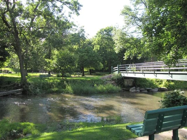 river crossing at Braeside Apartments in Marcellus, NY