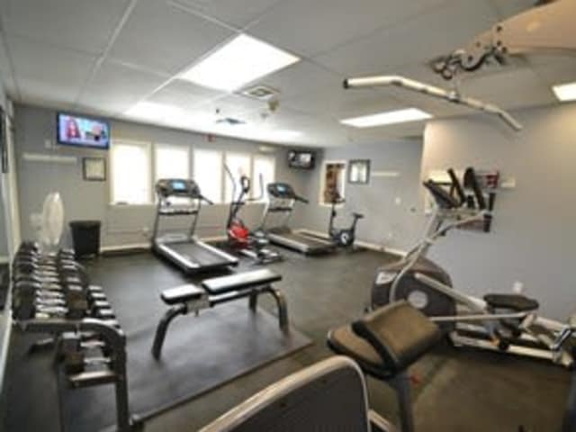 High end fitness equipment available at Village Green Apartments