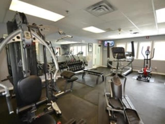 State of the part fitness center at Village Green Apartments