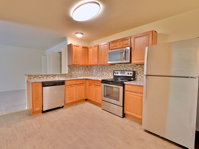 Kitchen at St. Mary's Landing Apartments & Townhomes