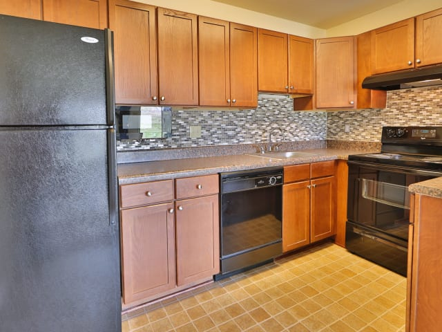 Well-equipped kitchen at St. Mary's Landing Apartments & Townhomes