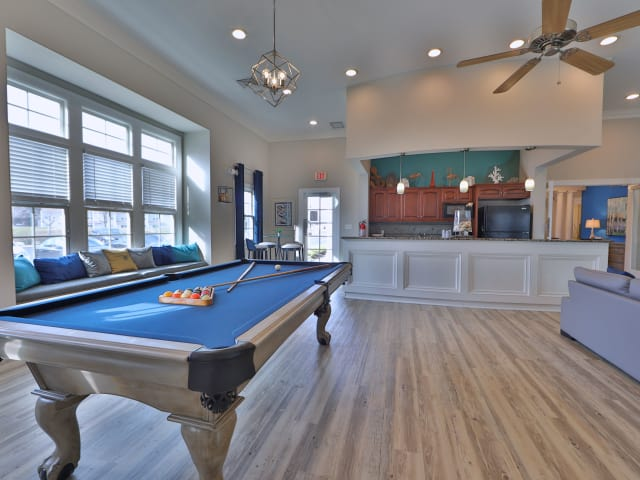 Pool Table in Clubhouse at St. Mary's Landing Apartments & Townhomes