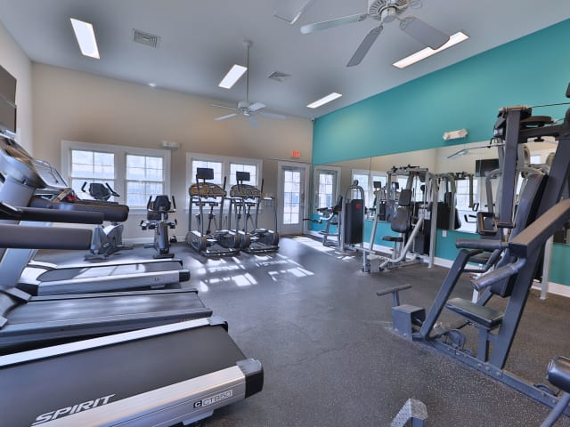 Fitness Center at St. Mary's Landing Apartments & Townhomes