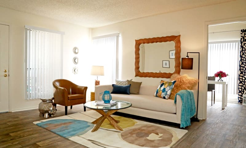 Living room at Keystone Apartments in Northglenn, Colorado