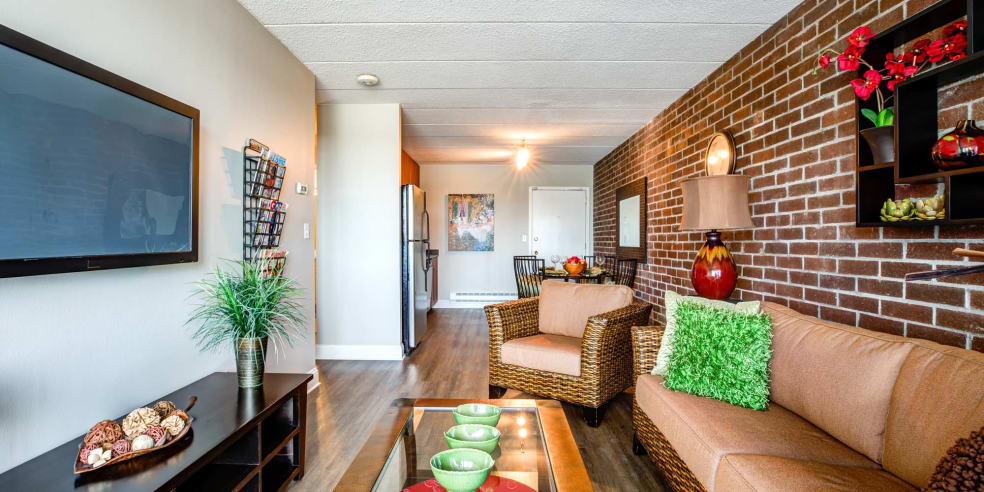 Living Room at Jefferson Hills Apartments