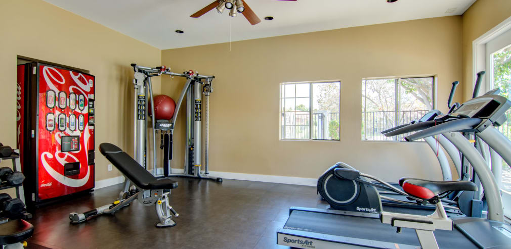 Fitness center at Sunset View Apartments in Oceanside