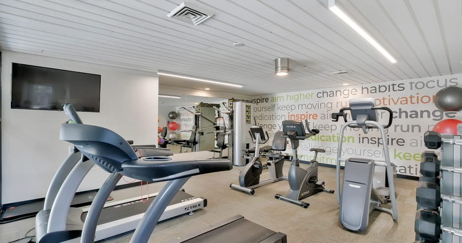 Fitness center at Sundance Apartments in Wichita, KS