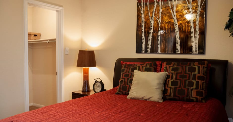 Bedroom at Promenade at Valley Ridge in Irving, Texas