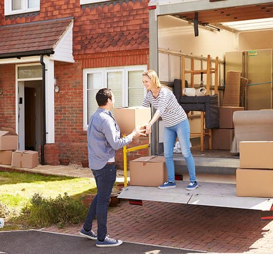 Couple using Prime Storage to help them move
