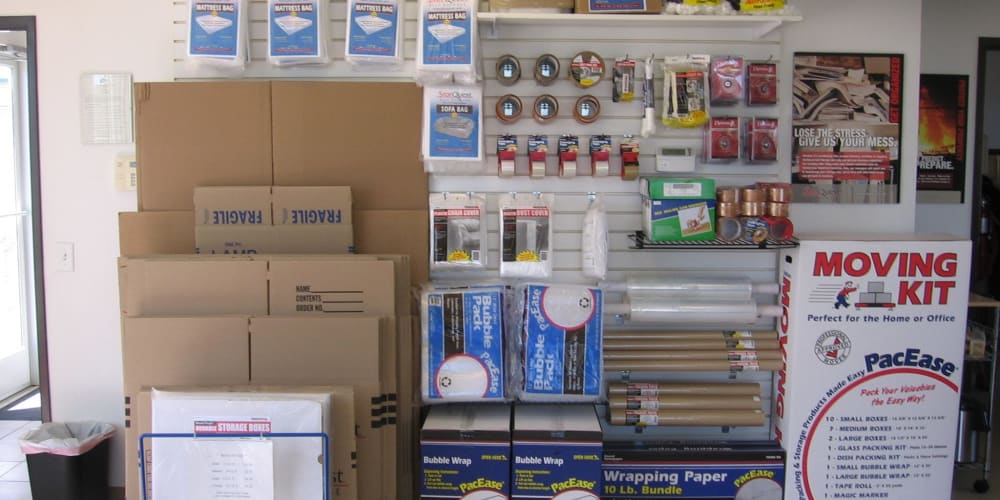 Packing supplies available at StorQuest Self Storage in Modesto, California