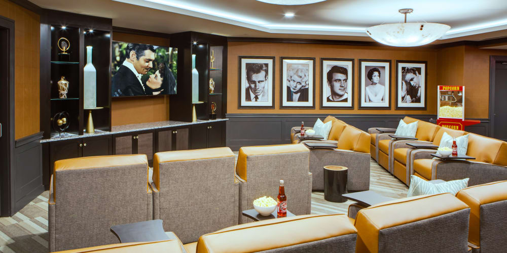 Movie theatre at senior living facility in Town & Country, Missouri