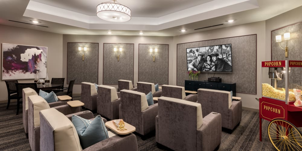 Private theater at Stonecrest of Meridian Hills in Indianapolis