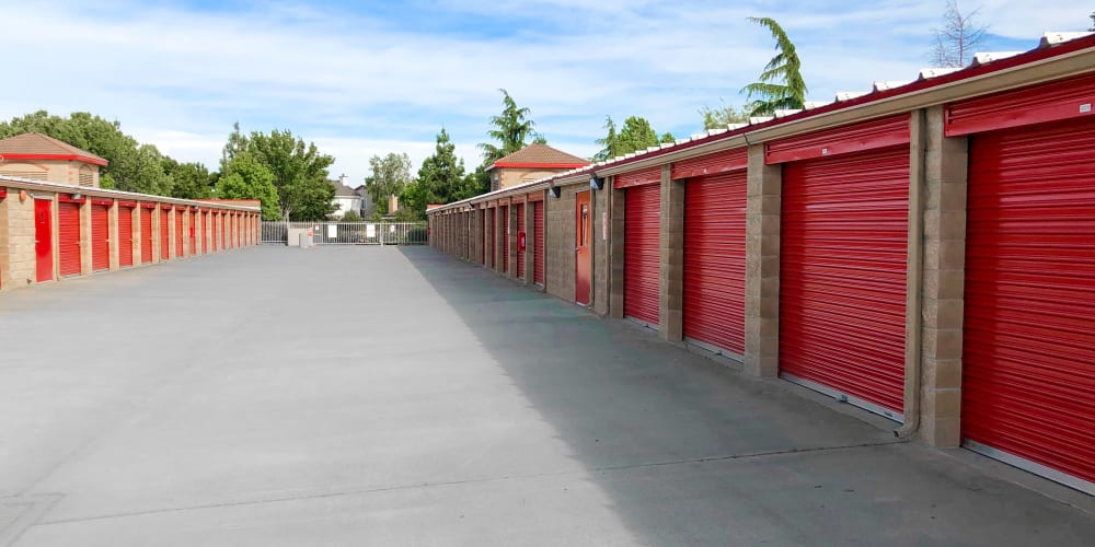Large outdoor units at StorQuest Self Storage in Elk Grove, California